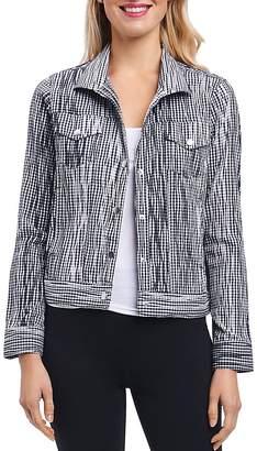 Foxcroft Tina Crinkled Gingham Jacket