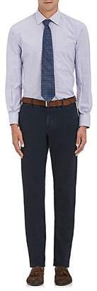 Barneys New York MEN'S MICRO-CHECK COTTON DRESS SHIRT