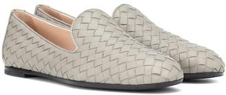 Bottega Veneta Fiandra intrecciato leather loafers