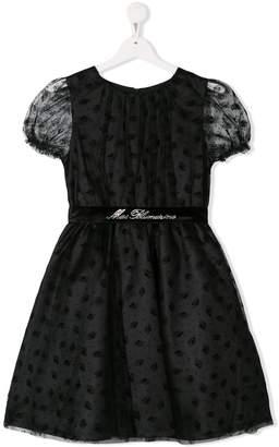 Miss Blumarine lace overlay party dress