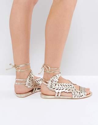 KG by Kurt Geiger Kurt Geiger London Malta Metallic Flat Sandals