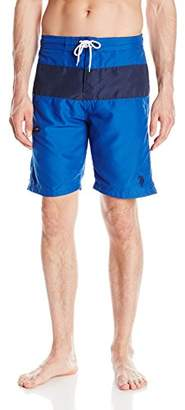 U.S. Polo Assn. Men's Color-Block Swim Short