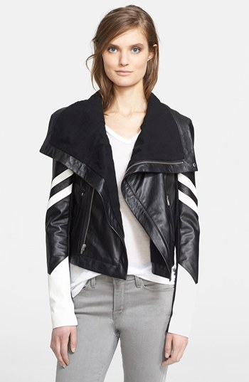 Veda Leather Racer Moto Jacket