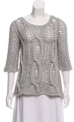 Calypso Semi-Sheer Knit Sweater