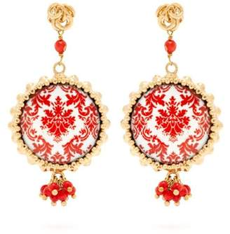 Rosantica By Michela Panero - Ciucciue Ceramic Tile Drop Earrings - Womens - Red