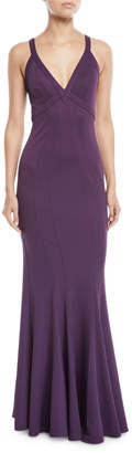 Zac Posen Sleeveless V-Neck Gown