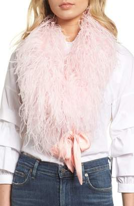 Cara Ostrich Feather Scarf
