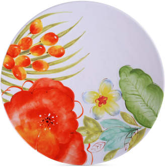 Laurie Gates Closeout! Red Floral Dinner Plate, First at Macy's