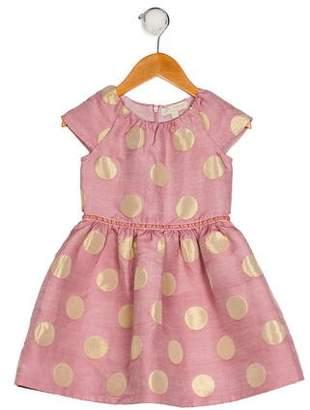Boden Mini Girls' A-Line Polka Dot Dress