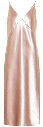 Vince Metallic satin dress