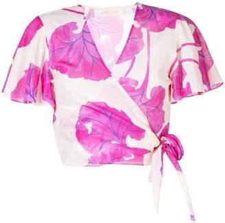283c24706ef29b Diane von Furstenberg floral wrap blouse