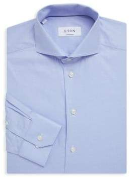 Eton Textured Cotton Dress Shirt
