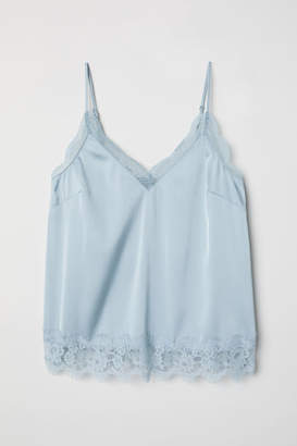 H&M Satin Camisole Top - Turquoise