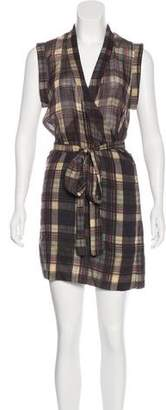 Etoile Isabel Marant Plaid Wrap Dress