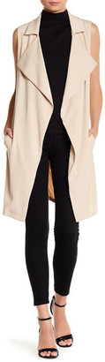 OnTwelfth Classic Longline Trench Vest $89 thestylecure.com
