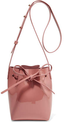 Mansur Gavriel Mini Mini Patent-leather Bucket Bag - Blush