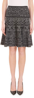 Roland Mouret Chevron-Print Mini Circle Skirt
