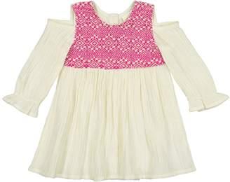 Masala Baby Layla Jacquard Cold Shoulder Dress