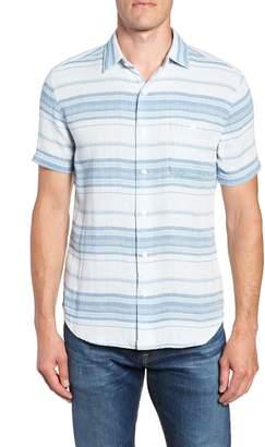 Faherty Ventura Double Cloth Short Sleeve Shirt