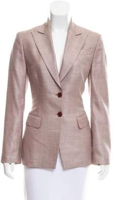 Richard Tyler Peak-Lapel Structured Blazer