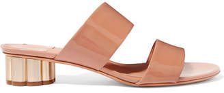 Salvatore Ferragamo Belluno Patent-leather Mules - Blush