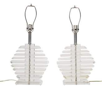 Pair of Acrylic Table Lamps