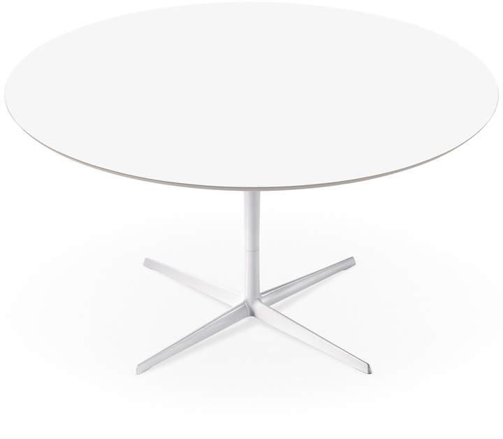 Arper - Eolo Tisch, LM1 Ø 120 cm mit Laminatoberfläche, Weiß