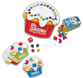 Learning Resources Smart Snacks Shape Sorting Cupcakes Game by Lea