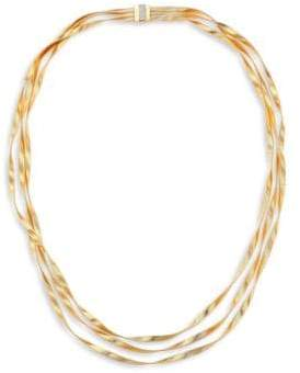 Marco Bicego Marrakech Diamond, 18K Yellow& White Gold Multi-Strand Necklace