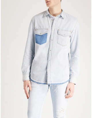 Diesel Drooke regular-fit distressed denim shirt