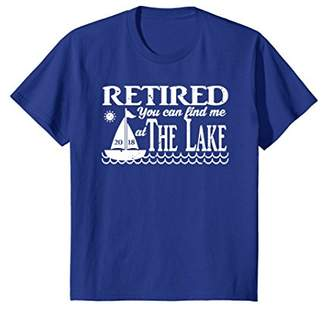 Retired 2018 You Can Find Me at The Lake T Shirt Distressed