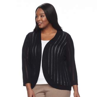 Dana Buchman Plus Size Open Stitch Shrug