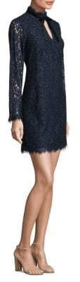 Shoshanna Lace Keyhole Shift Dress