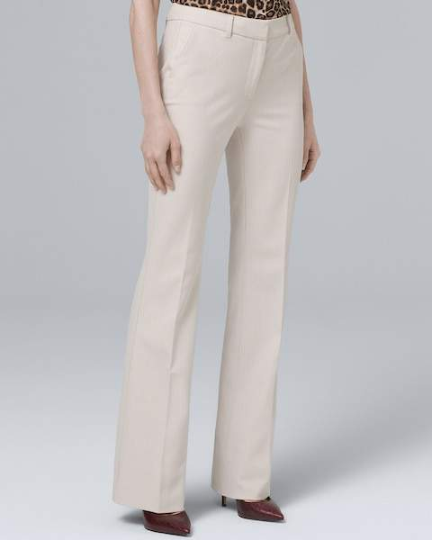 Whbm Herringbone Suiting Bootcut Pants