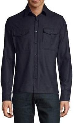Hardy Amies Long-Sleeve Button-Down Shirt