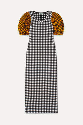 Kenzo Gingham Seersucker Dress - Black