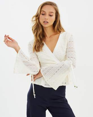 Moon River Bell Sleeve Lace Top