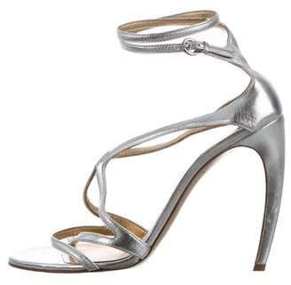 Walter Steiger Metallic Crossover Sandals