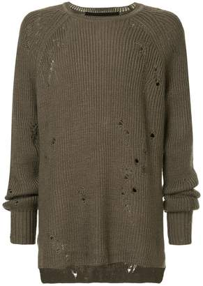 Julius distressed sweater