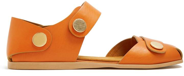 STELLA MCCARTNEY Collection stud-embellished faux-leather sandals
