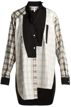 Loewe - Sequined Patchwork Cotton Blend Shirt - Womens - Multi