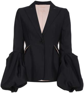Roksanda Narika Silk-Blend Oversized Cuff Blazer