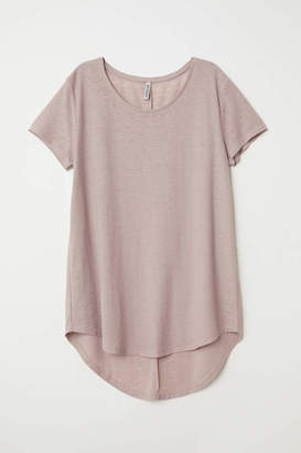 H&M Jersey Crepe Top - Dark antique rose - Women