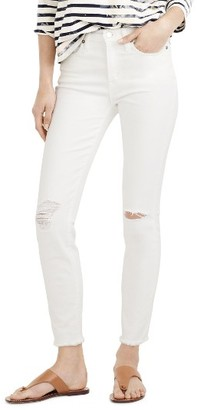 Petite Women's J.crew Lookout High Waist Crop Jeans $125 thestylecure.com