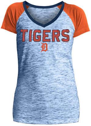 5th & Ocean Women Detroit Tigers Space Dye Stone T-Shirt