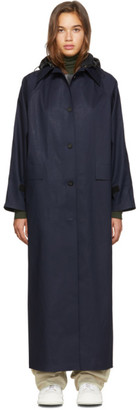 Kassl Editions SSENSE Exclusive Navy Canvas Trench Coat