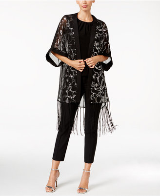 BLUE BY BETSEY JOHNSON Paisley Sequined Evening Kimono $54 thestylecure.com