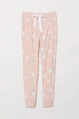 H&M Fleece Pajama Pants - Pink
