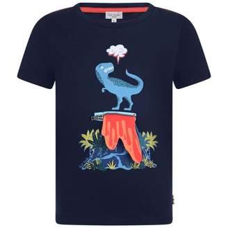 Paul Smith JuniorBoys Navy Dinosaur Print Rimini Top