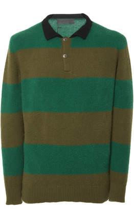 The Elder Statesman Exclusive Big Stripe Collared Shirt